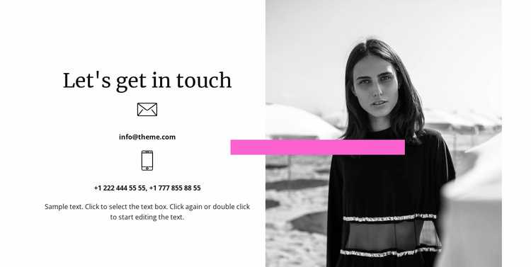 Write or call us Website Template