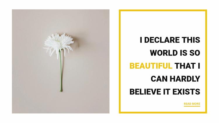 Beautiful things Website Template