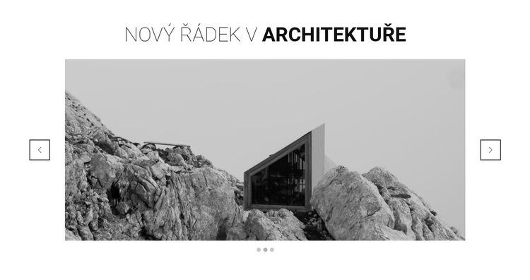 Nová řada v architektuře Šablona webové stránky
