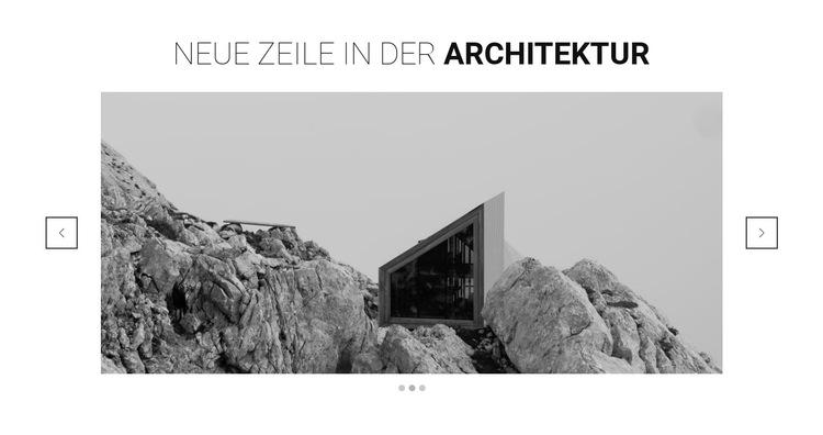 Neue Linie in der Architektur Website-Vorlage