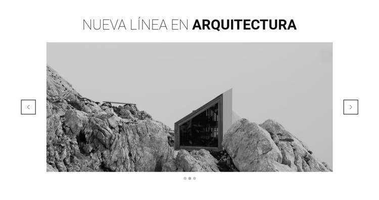 Nueva línea en arquitectura Plantilla de sitio web