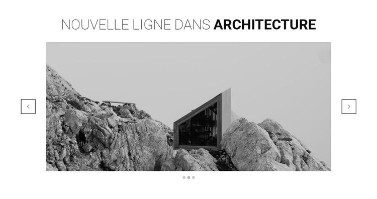 Nouvelle ligne en architecture Modèle de site Web