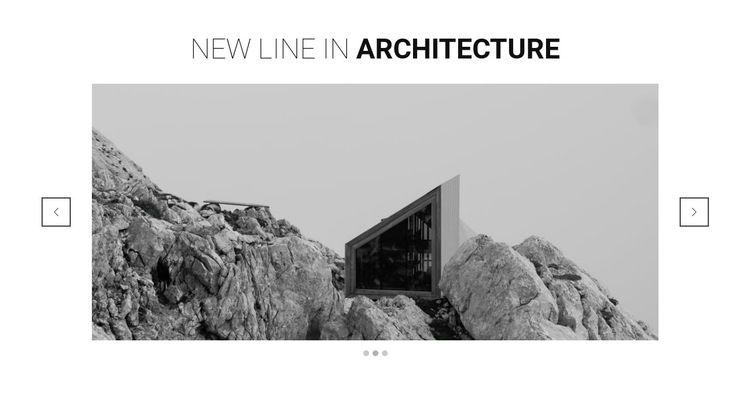 New line in architecture HTML5 Template