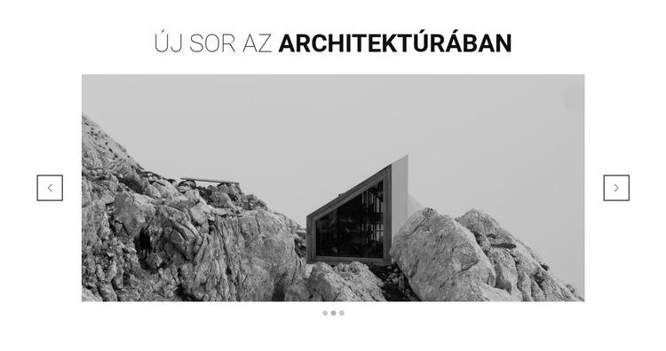 Új vonal az építészetben Weboldal sablon