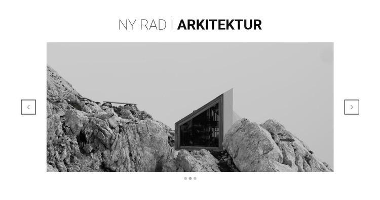Ny linje inom arkitektur Webbplats mall