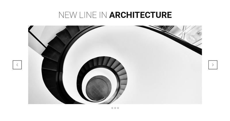 New line in architecture Web Page Design