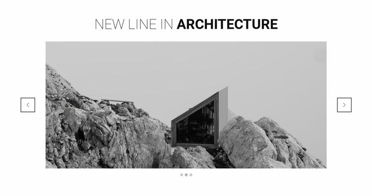 New line in architecture Website Design