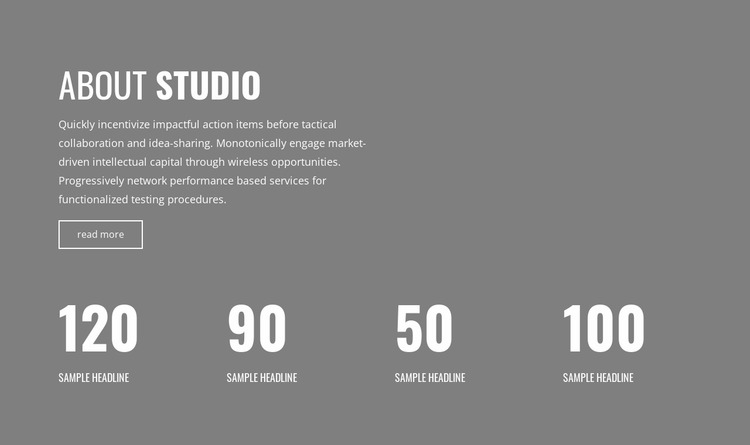 Counter of our victories Website Mockup