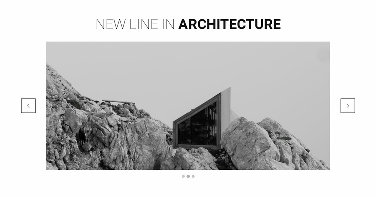 New line in architecture Landing Page