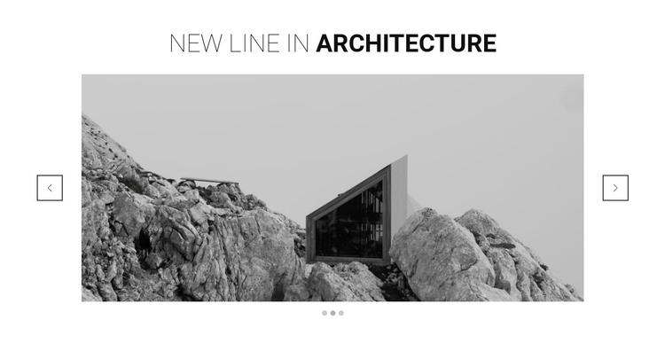 New line in architecture WordPress Theme