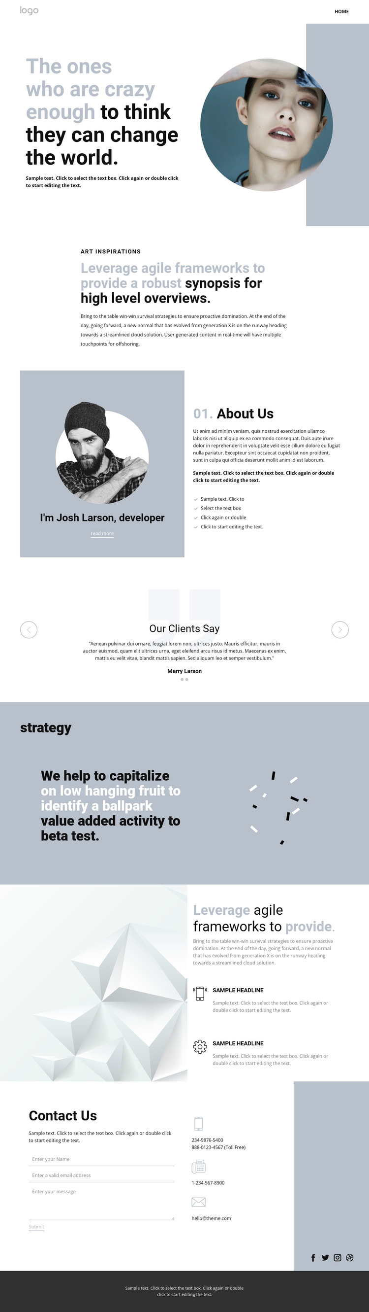 Creative studio innovation art Web Design