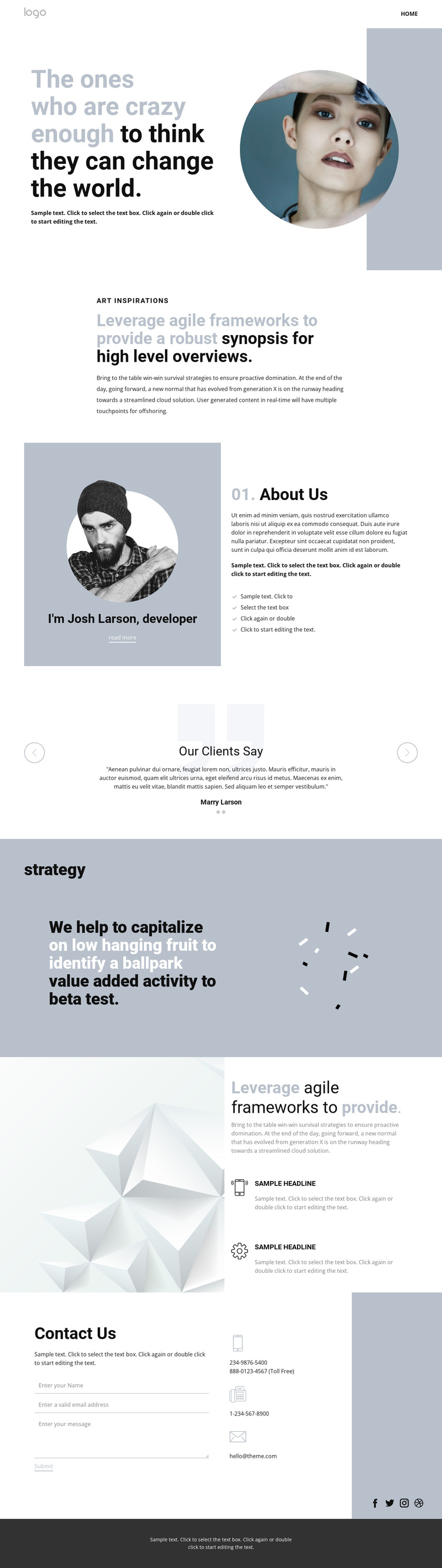 Creative studio innovation art Website Builder Software
