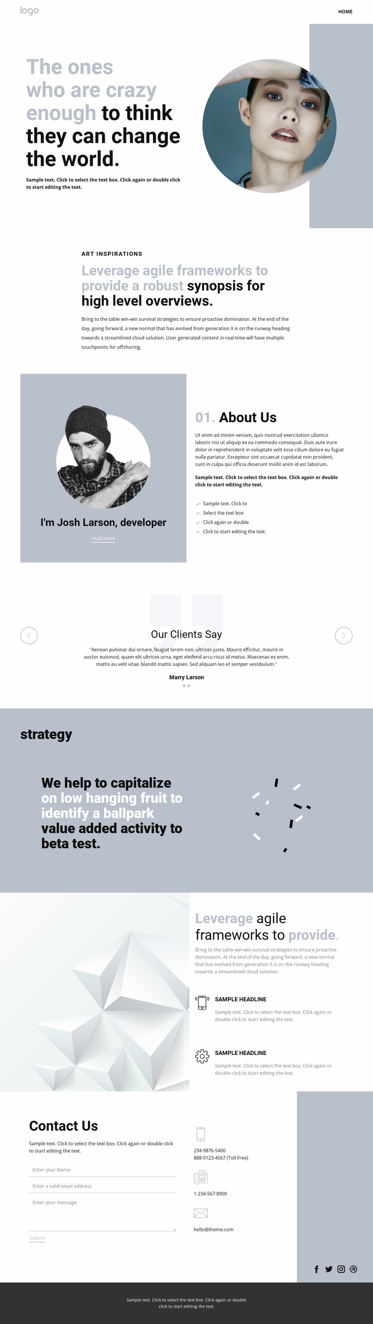 Creative studio innovation art Website Template