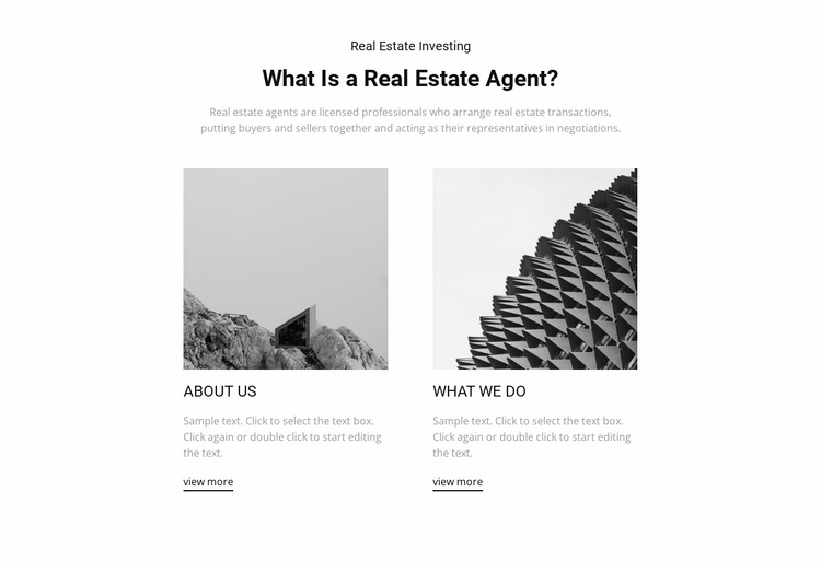 Professional agents Website Template