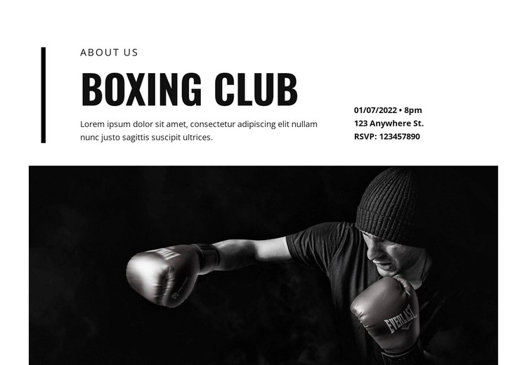 Boxing club WordPress Template