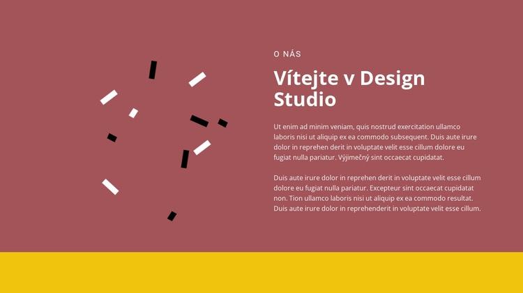 Vítejte v designu Šablona webové stránky