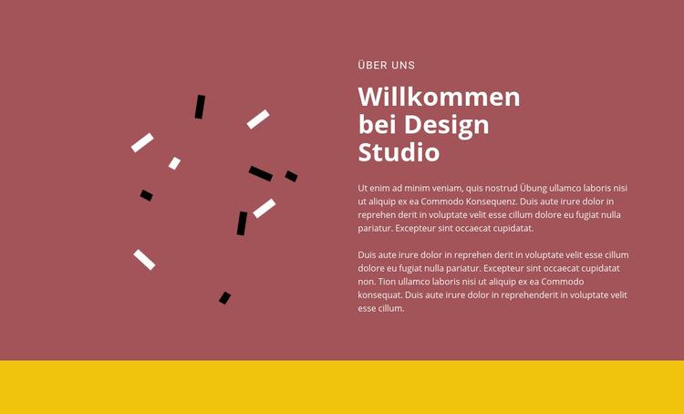 Willkommen beim Design Website-Vorlage