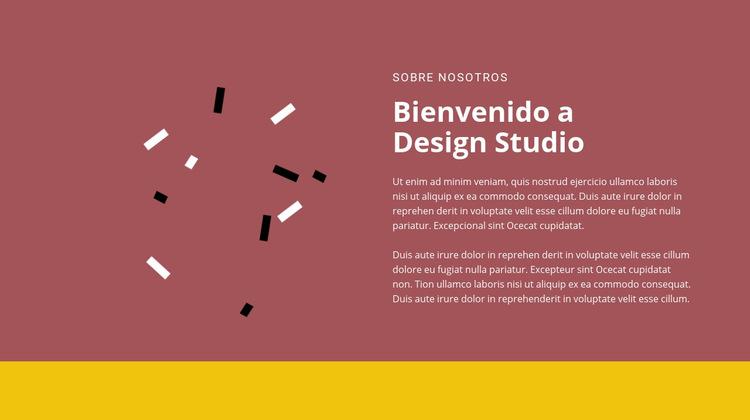 Bienvenido al diseño Plantilla de sitio web