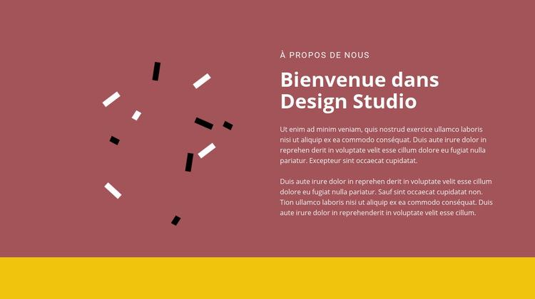 Bienvenue au design Modèle de site Web