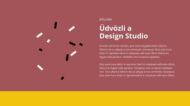 Üdvözöljük a tervezésben Weboldal sablon