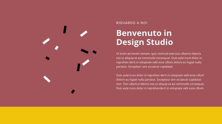 Benvenuto nel design Modello di sito Web