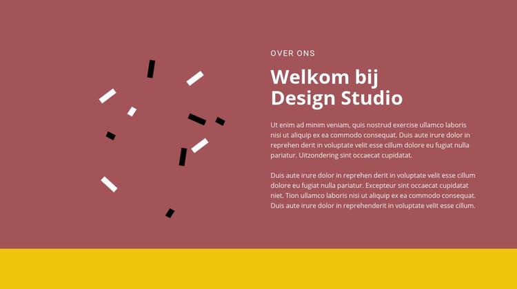 Welkom bij design Website sjabloon