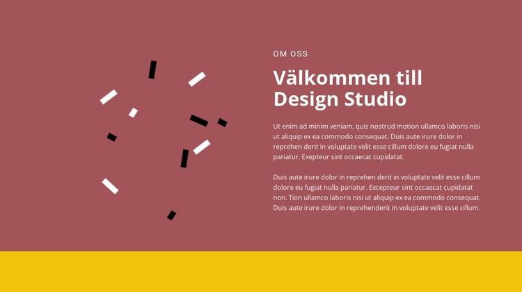Välkommen till design Webbplats mall