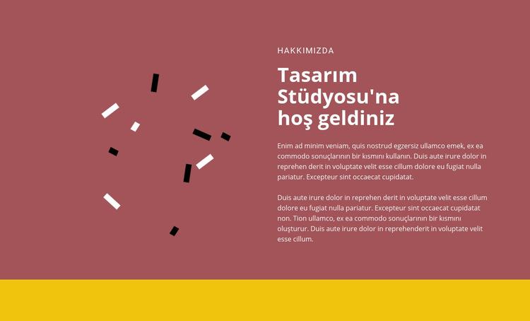 Tasarıma hoş geldiniz Web Sitesi Şablonu
