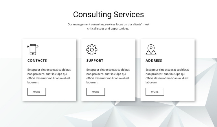 Our consulting features Template