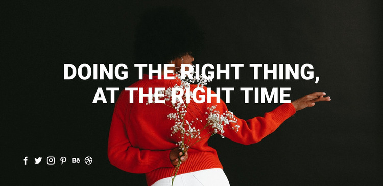 Doing the right thing Html Website Builder