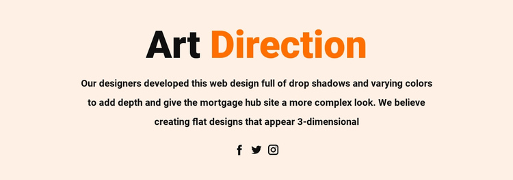 Art direction and social Website Builder Software