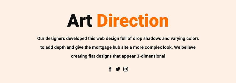 Art direction and social Website Template